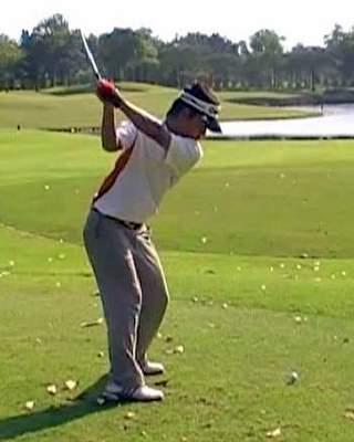 Pro mann, back swing